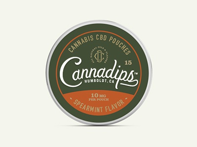 Cannadips cannabis script thc cbd marijuana vintage packaging design