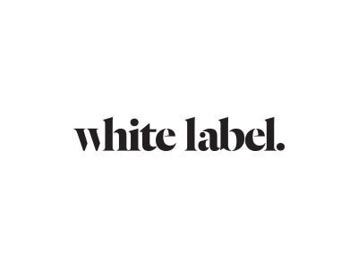 White Label Logo minimal type serif logo