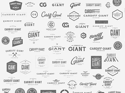Cardiff Giant hospitality vintage type logo
