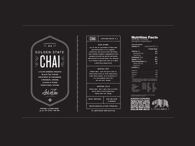 Golden State Chai chai logo packaging tea label