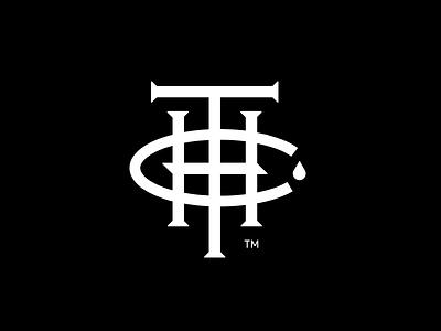 THC Monogram Logo handdrawn type weed icon baseball cbd thc monogram logo cannabis