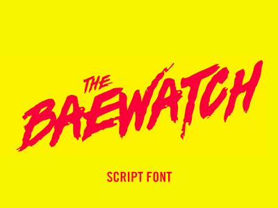Baywatch Font poster movie handdrawn script custom type baywatch font