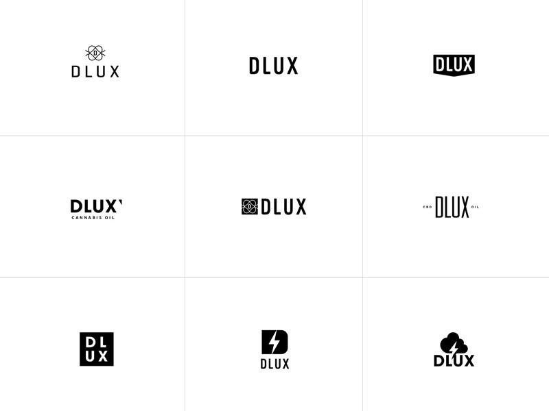 DLUX Logo identity branding type weed icon cbd thc monogram logo cannabis