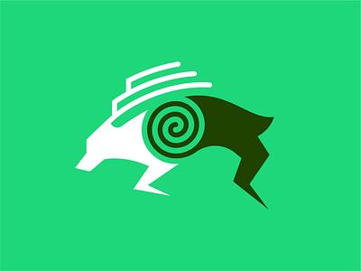Dublin Lash Icon esports logo deer spiral icon