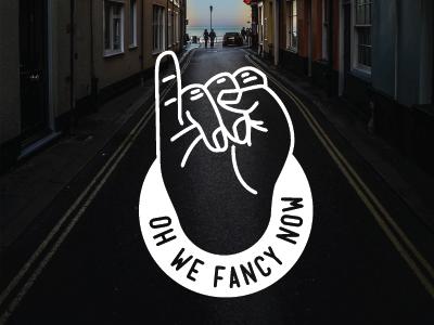 The Fanciest Finger pinky sticker hand