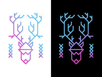 『 R  U  D  O  L  P  H 』 line gradient reindeer