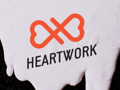Heartwork line heart logo