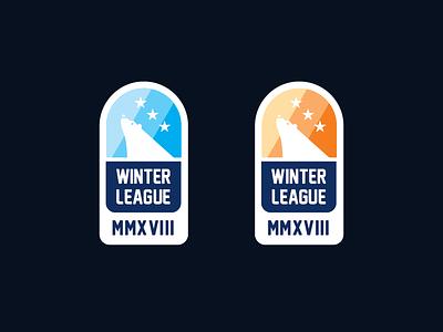 Winter League 2018 roman numerals winter stars polar bear logo hurling gaa