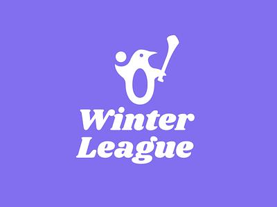 Winter League 2019 winter penguin sports gaa hurling logo