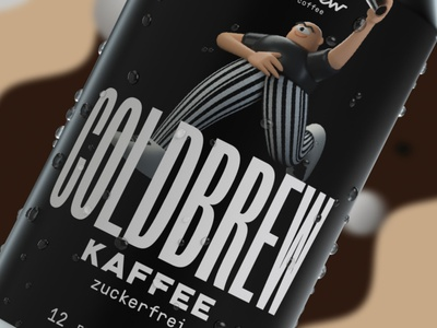 Monobrew -  Coldbrew character design 3d after effects animation vector character illustration logo branding design