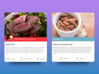 Health App Card Concept
