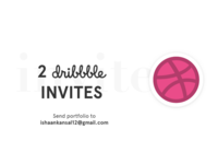 2x Dribbble invites! logo debut player invite dribbble invite