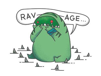 Sheever Ravage debuts sticker steelseries illustration tidehunter sheever dot