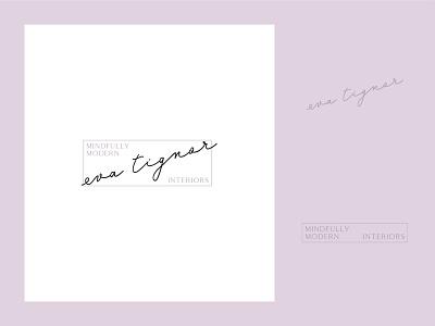 logo for interior designer lavender interior design branding delicate script identity system mark logo