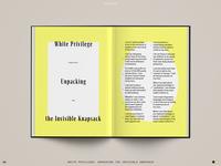 Spread Study 05 list typography type print layout editorial design editorial design book interior book
