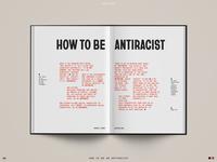 Spread Study 06 interior book design antiracist simple layout design editorial design book editorial print layout typography type design