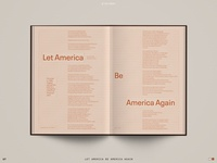 Spread Study 07 spread baseline grid sans interior tone on tone civil rights poetry poem editorial design book editorial print layout typography type design