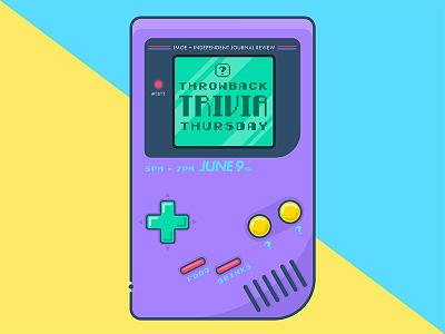 TBT flat nintendo throwback trivia game gameboy 1990 90s