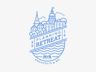 Company Retreat city coozie koozie emblem company retreat annapolis maryland trip