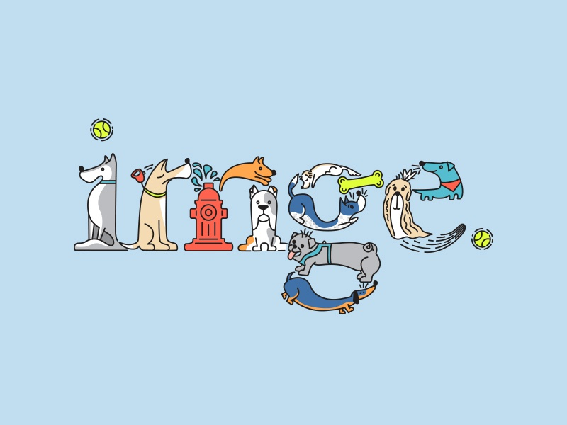 Dogs of IMGE illustration letters dogs puppy pets typography dog