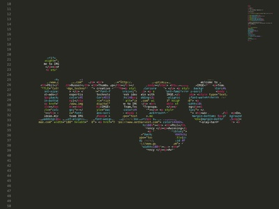 <html> IMGE </html> technology tech developer programer lines typography type html code imge