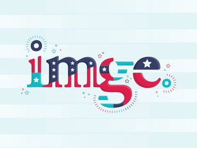 Political Agency logo typography type patriotic america agency ad digital politics imge