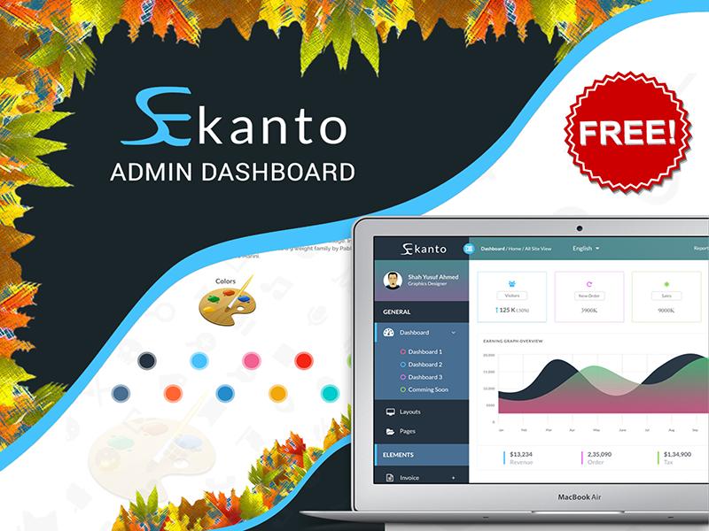 Ekanto Admin Dashboard (Freebie) free admin templete uxui ui ux free admin dashboard free dashboard admin dashboard admin board dashboard