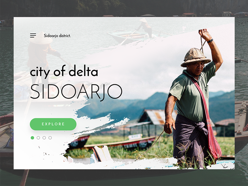 Sidoarjo - City of Delta clean mockup webdesign inspiration homepage hero card landingpage social sidoarjo uidesign