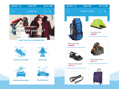 Sewa.in Homepage & List Page