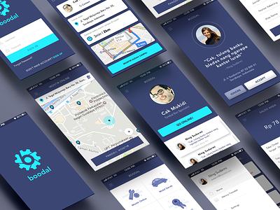 Freebie PSD : Boodal Apps mockup template free psd freebie blue uxdesign uidesign perspective map ux ui