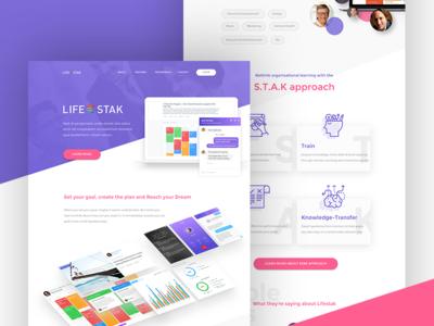 Lifestak Landing Page