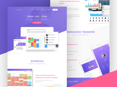 Lifestak Landing Page - Features Approach