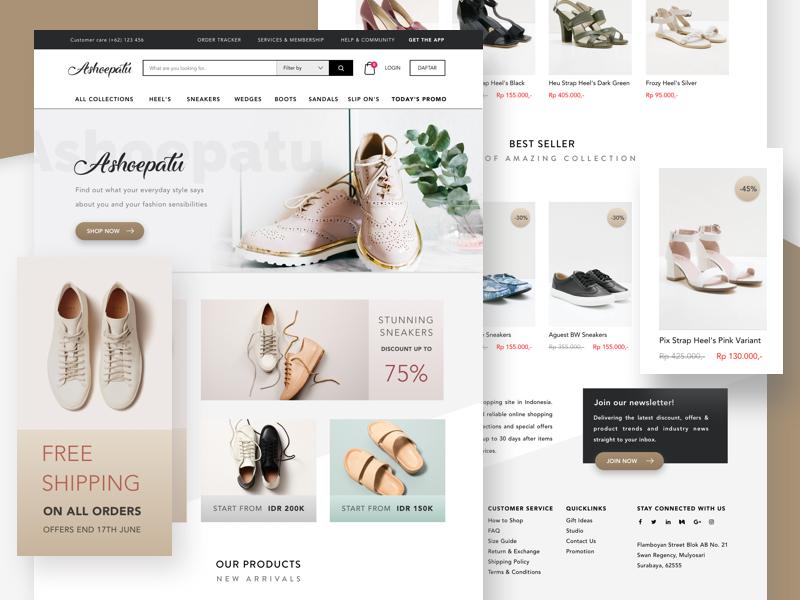 Ashoepatu - Indonesian Shoes Marketplace webdesign shop ecommerce marketplace shoes uxdesign uidesign ux ui