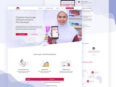 Mitra Bukalapak Landing Page indonesian bukalapak landing page webdesign purple flat clean ux ui