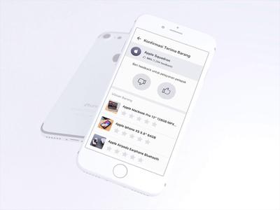 Revamping Bukalapak's Feedback & Review Page interaction design animation simple minimalis ios apps bukalapak clean revamp seller review rating feedback