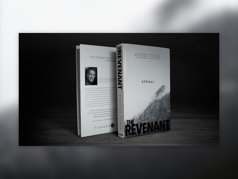 The Revenant design book covers tyopgraphy graphic design