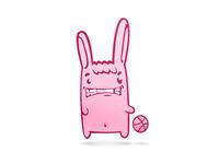 Dribble Pink Banny