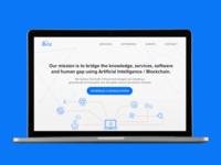 Landing page design for iBriz