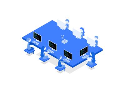 Workspace Isometric coding workspace programming isometric developers work
