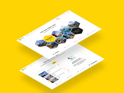 Honeyguideapps Web UI trekking trek ux design illustrator sketch app interaction design user experience ui web