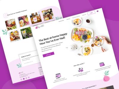 Initial concept and color variation for Fig+Goat user interface ui webapp website sketch