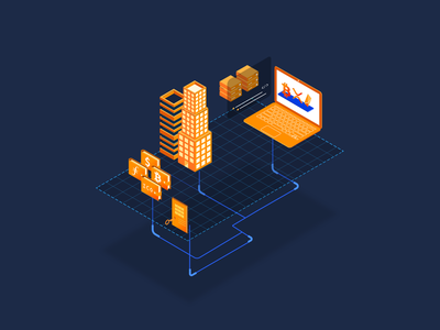 Cryptocurrency Artwork 2 isometric isometric design mining bitcoin cryptocurrency icon design vector artwork illustrator illustration