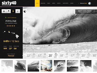 Surf Report - Concept Design concept waves report weather surfing bodyboarding interface design development application