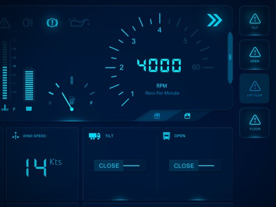 Space Truck Dashboard Interface - Coming Soon interface dashboard ui space