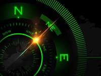 Futuristic Sci-Fi Compass