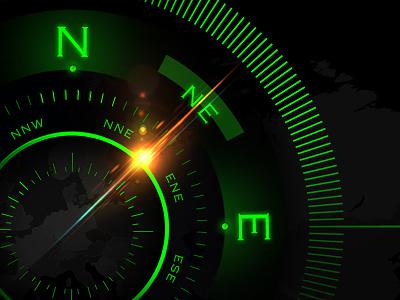 Futuristic Sci-Fi Compass revision design animation aftereffects ui compass futuristic