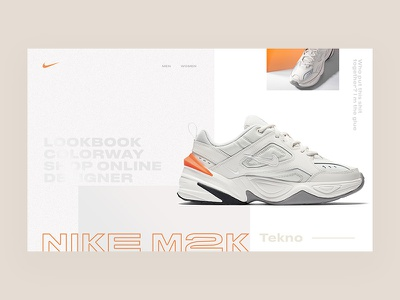 Layout Experiment / Sneakers taiwan taipei sneakers nike m2k ui hompage concept fashion typogaphy fullscreen minimal clean