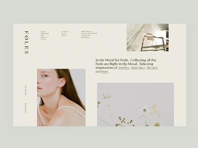Layout Experiment / Natural Vibe beauty taiwan taipei minimal homepage natural fullscreen fashion concept clean