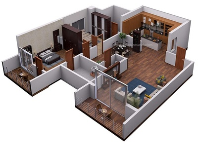 3d Floor Plans For Apartments designs, themes, templates and ...