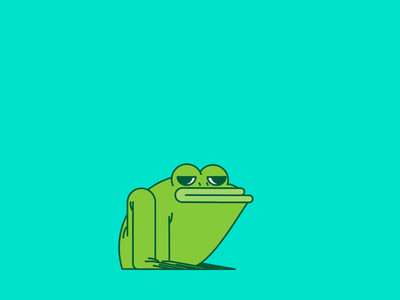 P is for Frog animation 2d after effects aftereffects animal frog 36daysoftype 2d animation character illustration vector patswerk